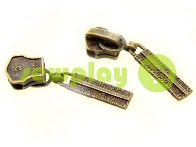 Slider Cork for metal zipper type 5 antique sku 309