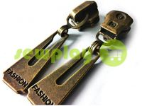 Slider Fashion for metal zipper type 3 antique sku 316