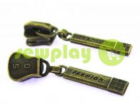Slider Fashion for tractor zipper type 5 antique