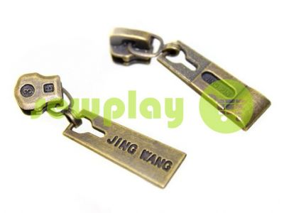 Slider Jing for metal zipper type 3 antique sku 329