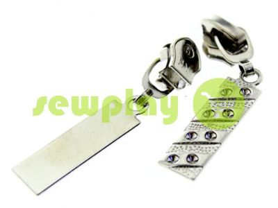 Slider PoolDiamant for spiral zipper type 5 nickel sku 339