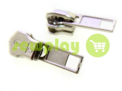Slider SQUARE for metal zipper type 5 nickel sku 341