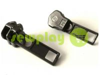 Slider SQUARE for metal zipper type 5 black nickel sku 342