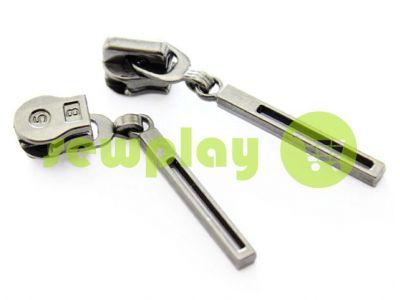 Бегунок Stick для спиральной молнии тип 5 темный никель арт 358