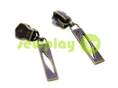 Slider Petal for metal zipper type 5 antique sku 383