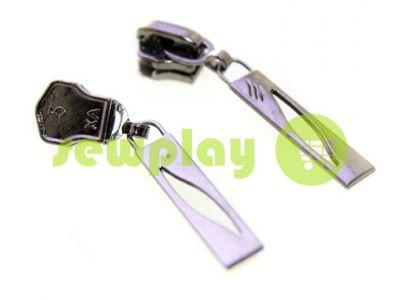 Slider Petal for metal zipper type 5 black nickel sku 385