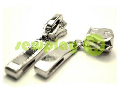 Бегунок Строчка для металлической молнии тип 5 никель арт 390