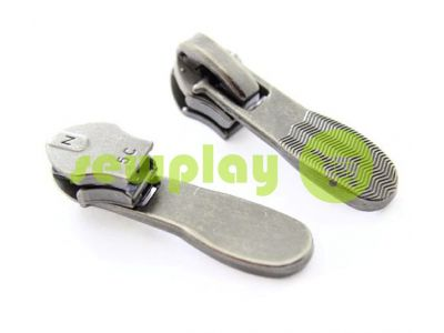 Slider shoe Relief for spiral zipper type 5 black nickel sku 403