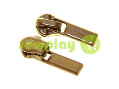 Slider Baryshevka 23 for spiral zipper type 6 type 7 brown sku 445