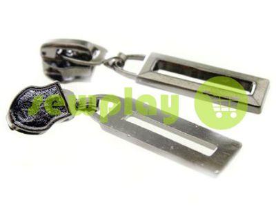 Slider Frame for spiral zipper type 7 black nickel sku 458
