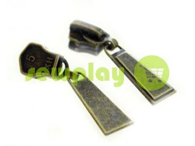Бегунок Trap для металлической молнии тип 5 антик арт 471