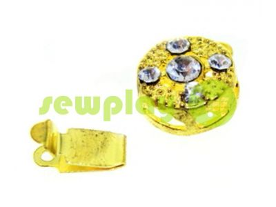 Clasp for beads with 5 stones d = 10mm gold sku 491