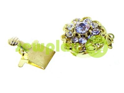 Clasp for beads with 10 stones d = 14mm dark gold sku 494
