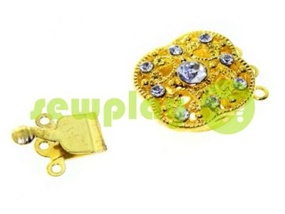 Clasp for beads 18mm * 18mm with 9 stones gold sku 495