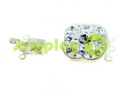 Clasp for beads 18mm * 18mm with 9 stones nickel sku 496