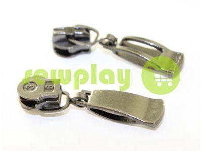 Slider Classic Spiral zipper type 3 Dark Nickel sku 500