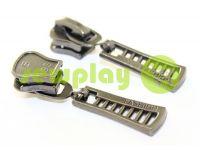 Бегунок FashionZTD для тракторной молнии тип 5 темный никель арт 505