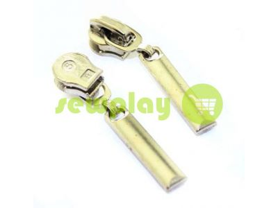 Slider Pool Spiral zipper type 5 nickel sku 515