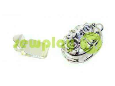 Clasp for beads with stones 3 9mm * 12mm nickel sku 525