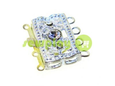 Clasp for beads with stones 3 12mm * 20mm nickel sku 526