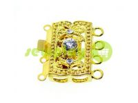 Clasp for beads with stones 3 12mm * 20mm gold sku 527