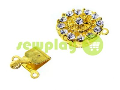 Clasp for beads with 14 stones d = 16mm gold sku 528