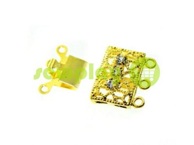 Clasp for beads with stones 3 11mm * 16mm gold sku 531