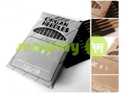 Иглы промышленные Organ Needles DC*1 для оверлока №70 - №110 арт 560
