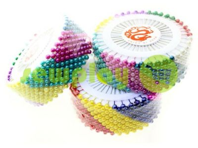 Set tailor pins on the ring with colored ears 480pcs sku 1323