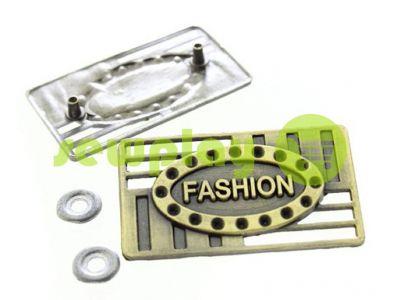 Бирка металлическая Fashion 25мм*40мм антик арт 595