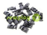 Fixator for cord d = 6mm plastic single hole 11mm * 20mm black, 10 pcs sku 612