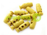Fixator for cord d = 4mm plastic two-hole 9mm * 21mm mustard, 10 pcs sku 616
