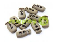 Fixator for cord d = 4mm plastic two-hole 12mm * 23mm brown, 10 pcs sku 619