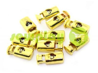 Fixator for cord d = 5mm plastic single hole 10mm * 22mm gold, 10 pcs sku 622