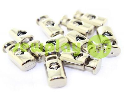 Fixator for cord d = 5mm plastic single hole 10mm * 22mm nickel, 10 pcs sku 624
