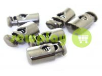 Fixator for cord d = 5mm plastic single hole 10mm * 22mm black nickel, 10 pcs sku 625