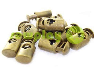 Fixator for cord d = 6mm plastic single hole 12mm * 23mm antique, 10 pcs sku 626