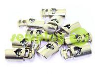Фиксатор для шнура d=8мм пластиковый на одно отверстие 12мм*23мм никель, 10 шт
