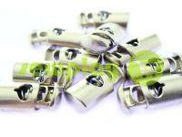 Fixator for cord d = 8mm plastic single hole 12mm * 23mm nickel, 10 pcs sku 628