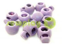 Фиксатор для шнура d=8мм круглый на одно отверстие 17мм*22мм фиолетовый, 10 шт