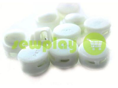 Fixator for cord d = 5mm round two holes 12mm * 17mm white, 10 pcs sku 634