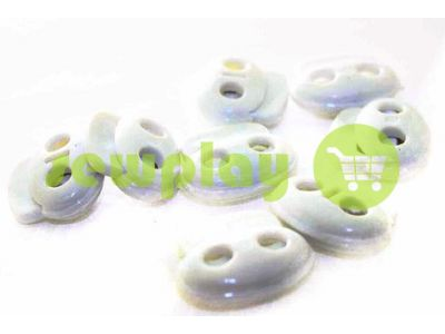 Fixator for cord d = 6 mm elips two-hole 21mm * 24mm white, 10 pcs sku 635