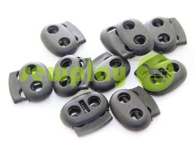 Fixator for cord d = 6 mm elips two-hole 21mm * 24mm black, 10 pcs sku 637