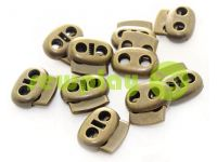 Fixator for cord d = 4mm elips two-hole 16mm * 18mm antique, 10 pcs sku 642