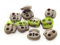Fixator for cord d = 4 mm elips two-hole 16mm * 16mm beige, 10 pcs sku 643