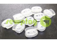 Fixator for cord d = 6 mm elips two-hole 21mm * 24mm clear, 10 pcs sku 644