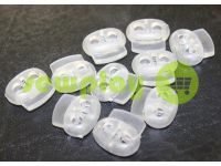 Fixator for cord d = 4mm elips two-hole 16mm * 18mm clear, 10 pcs sku 645