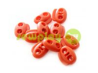 Fixator for cord d = 5mm elips two-hole 18mm * 20mm red, 10 pcs sku 647