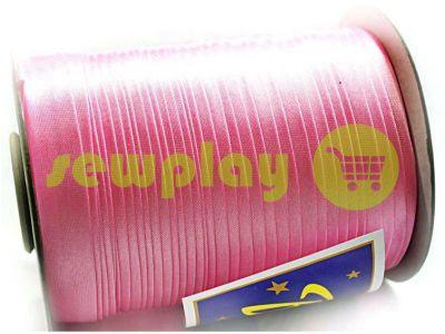Косая бейка Bias Star атласная розовая арт 675