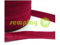 Bias binding stretch burgundy
